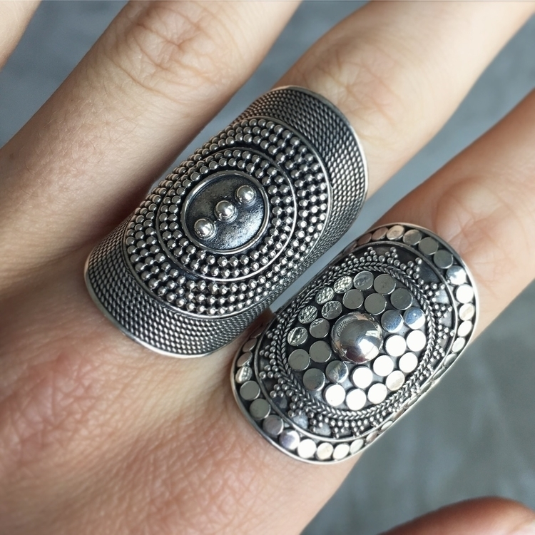 Boho Rings original Mandala des - seagypsycollection | ello