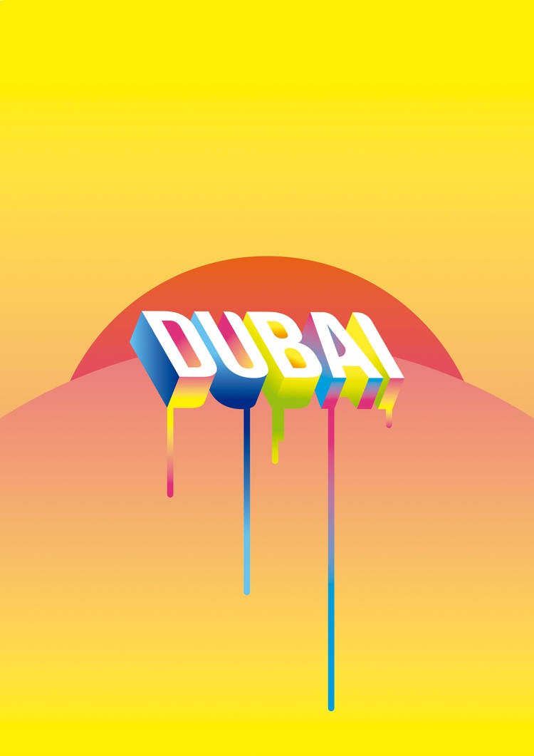 Dubai - dubai, hot, gradient, melt - liaveiro | ello