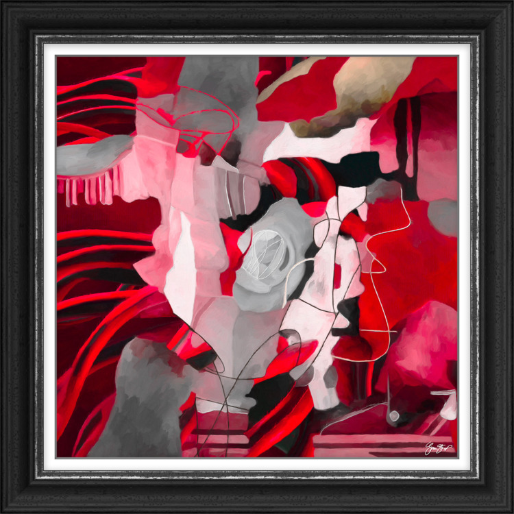 Fire Red Abstract- $300 USD - abstract - ginastartup   ello