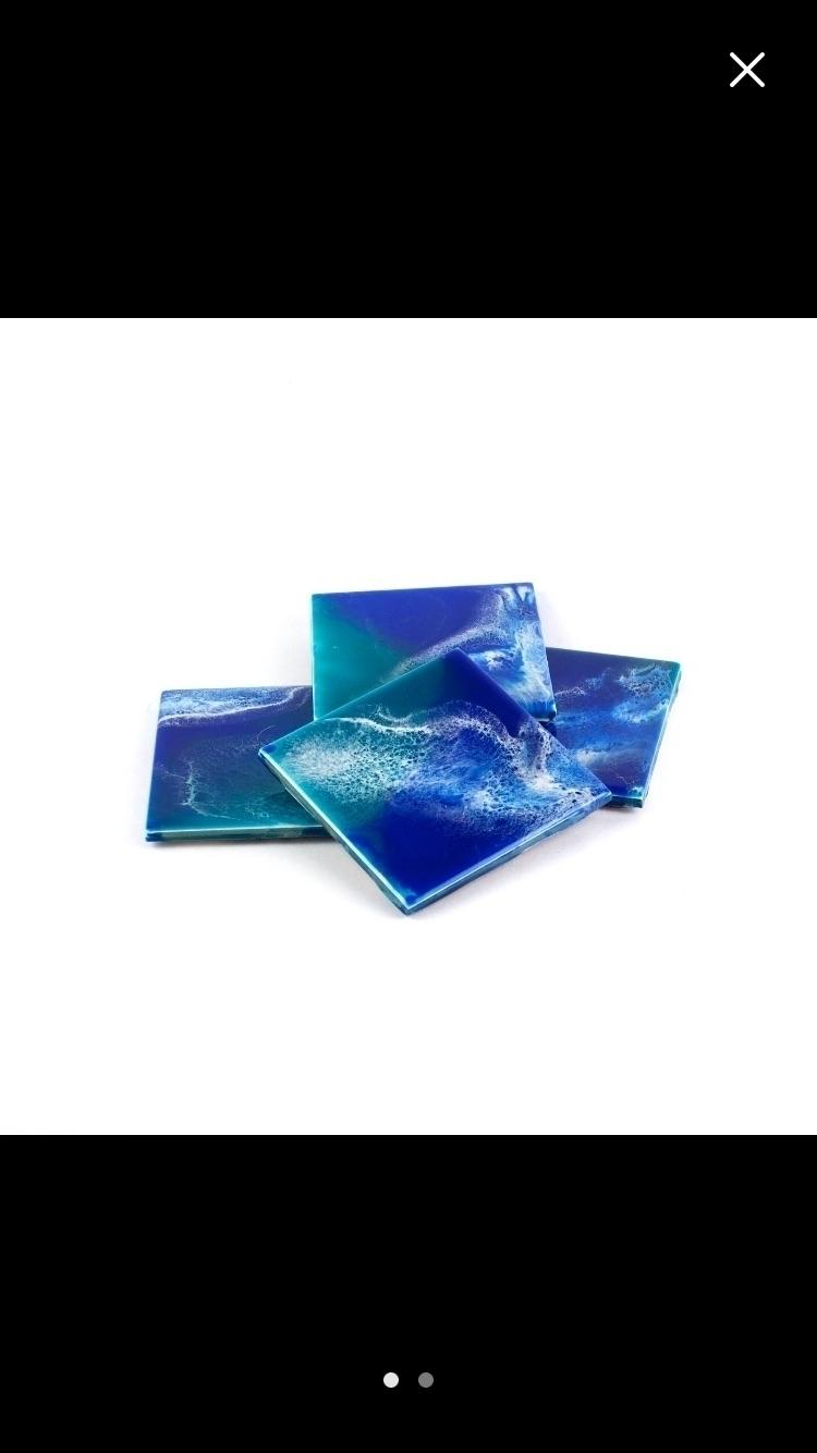 Resin Coasters -- functional ar - fluiddynamics | ello