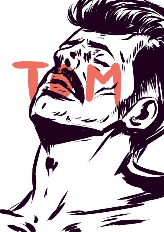 tomoffinland, drawing, man, mustache - laceoni | ello