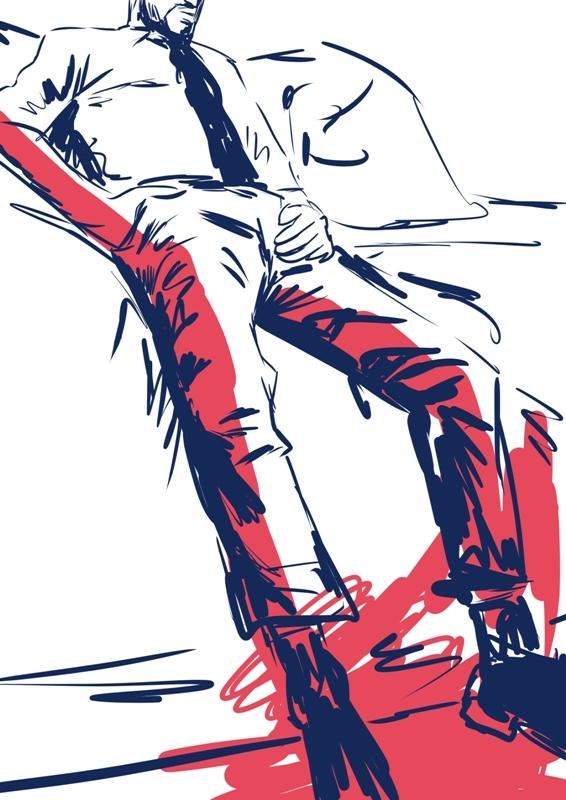 man, drawing, gayart - laceoni | ello