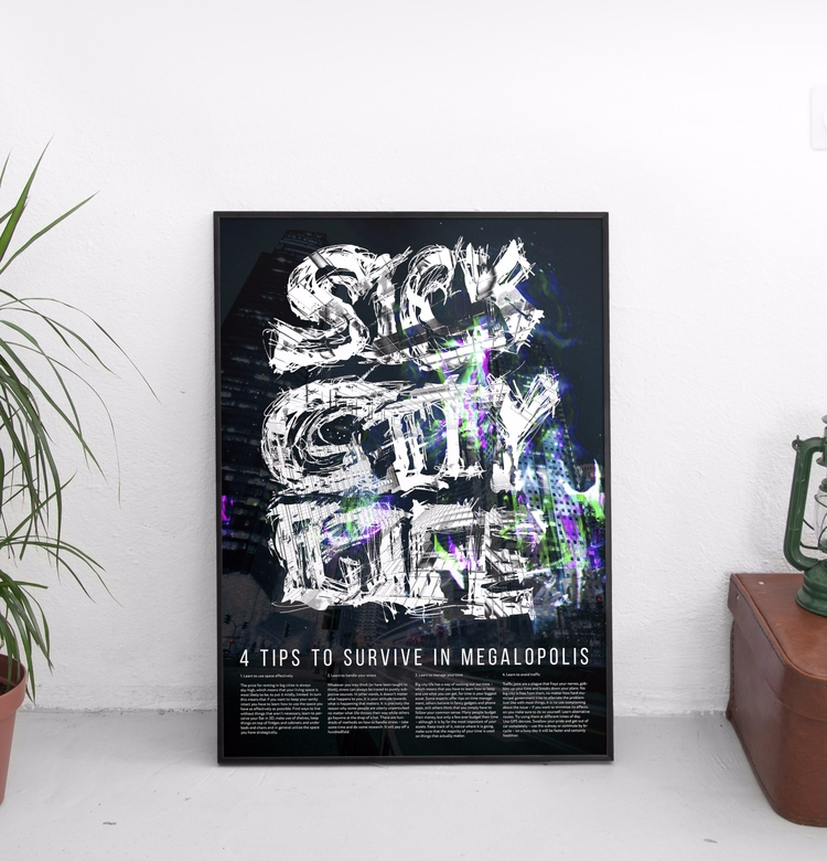sick city life - poster, design - beliy | ello