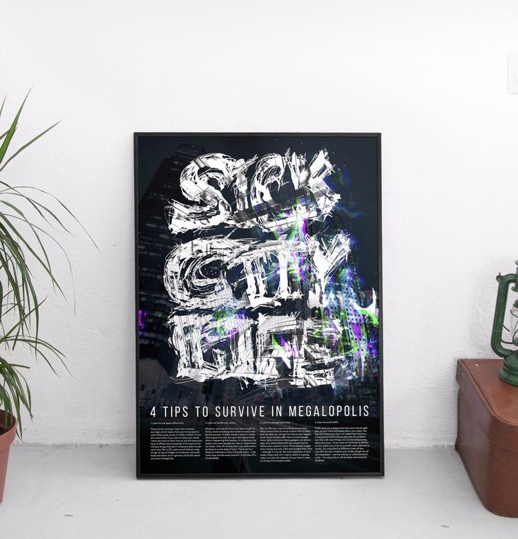 sick city life - poster, design - beliy | ello