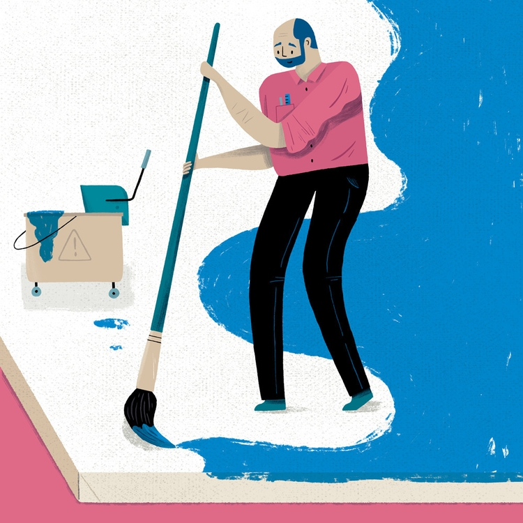 Cleaning Creating? illustration - alexander_mostov | ello