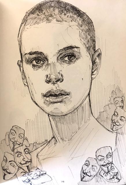 Natalie Portman Vendetta Jon St - mulegallery   ello