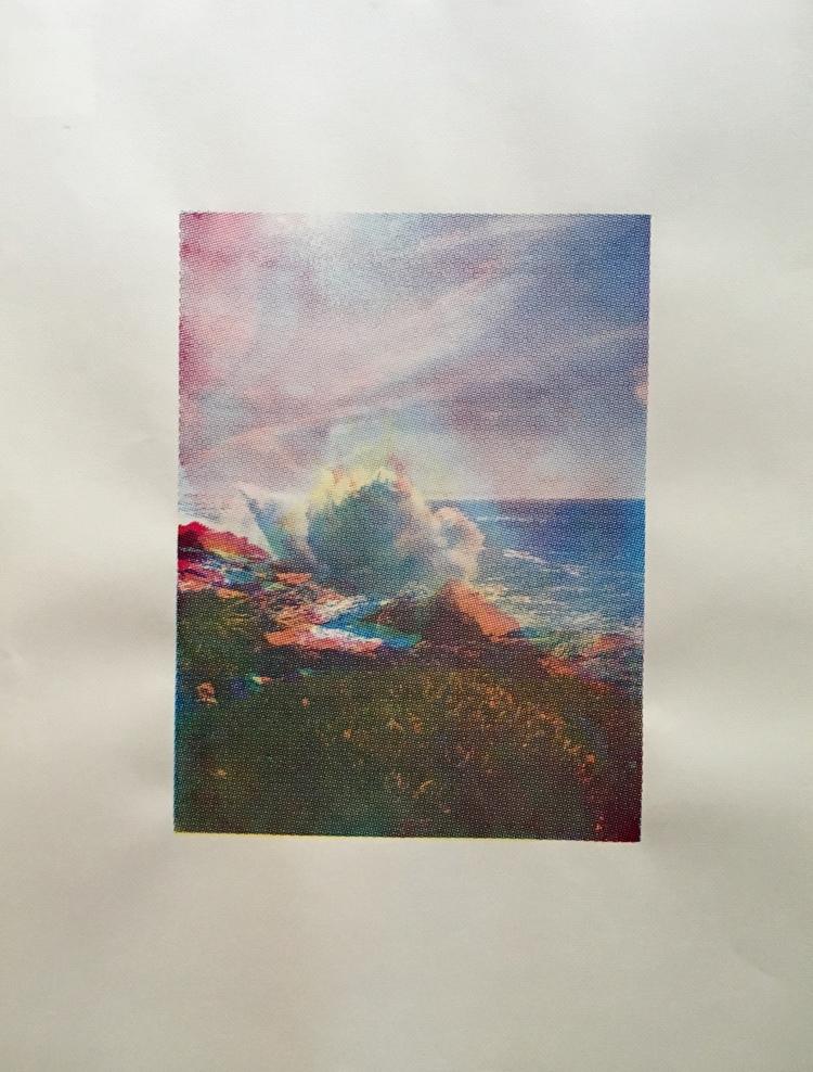 Wave, silkscreen, 12x14, 2017 - laitken | ello