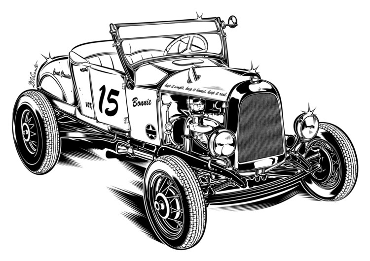 Design Bonnie 1927 Ford - COAST - dvicente777 | ello