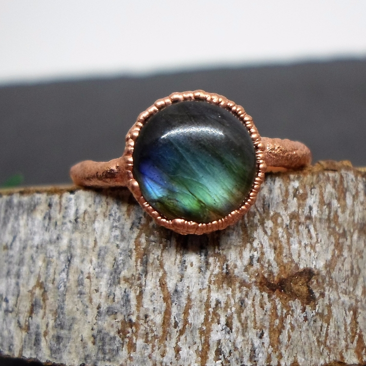 Labradorite Stacking Ring added - lunarlabyrinth | ello