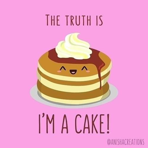 secret - cute, funny, puns, cake - anishacreations   ello