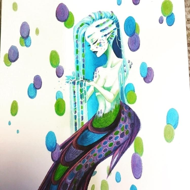 watercolor, multimedia, mermaid - gossamer | ello