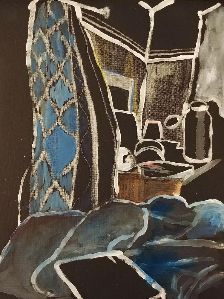 Nightfall Acrylic gesso canvas  - peytonrack | ello