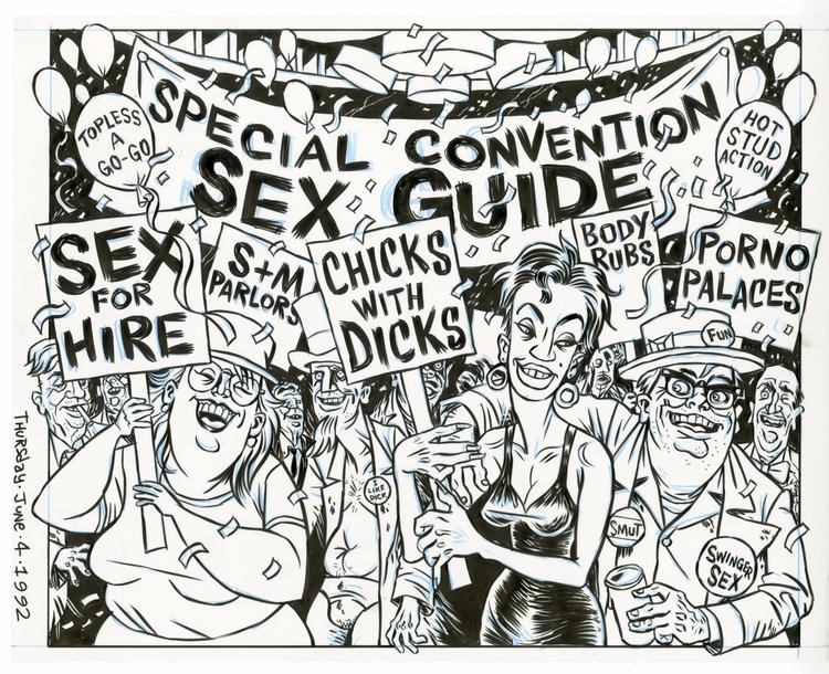  DNC NYC illo SCREW, 6/4/92, a - dannyhellman | ello