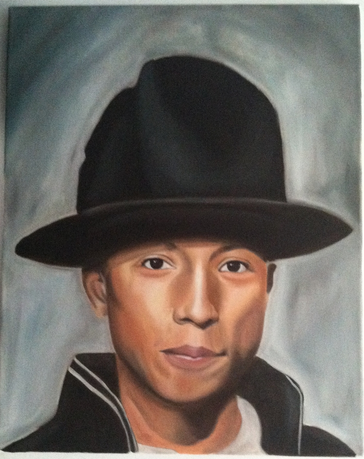 Pharrell Williams oil canvas 16 - locreates | ello