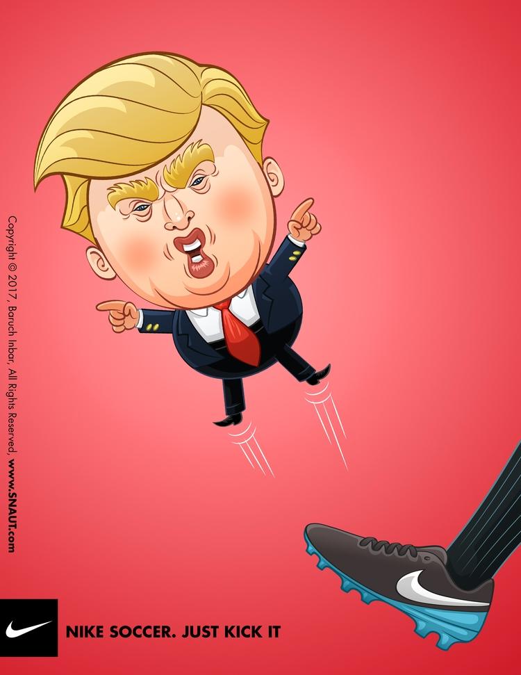 NIKE poster designed - trump, trumpmemes - baruchinbar | ello