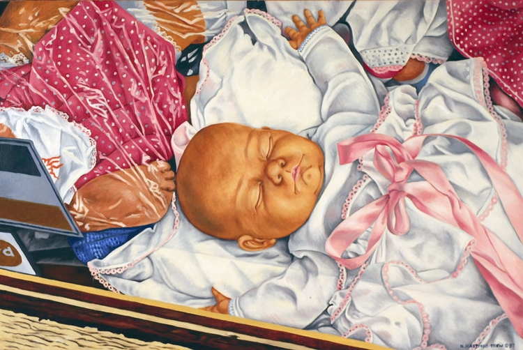 Dream Baby – 1987, 20X30, oil c - nancyht | ello