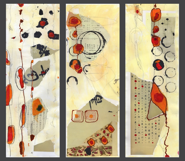 Abstract Mixed Media Triptych - thomasmuse | ello