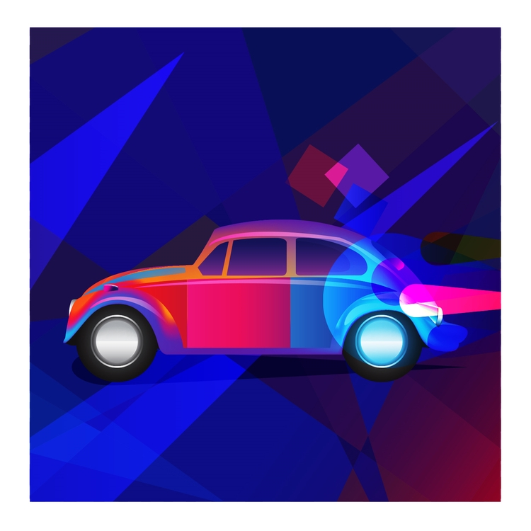 Color Drive - illustration, 3d, ello - spartos | ello