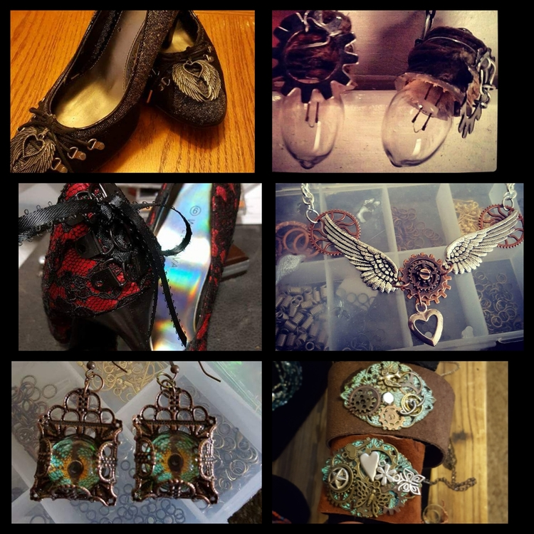 Steampunk design shoes, jewelry - laughingdogdesignunlmd | ello