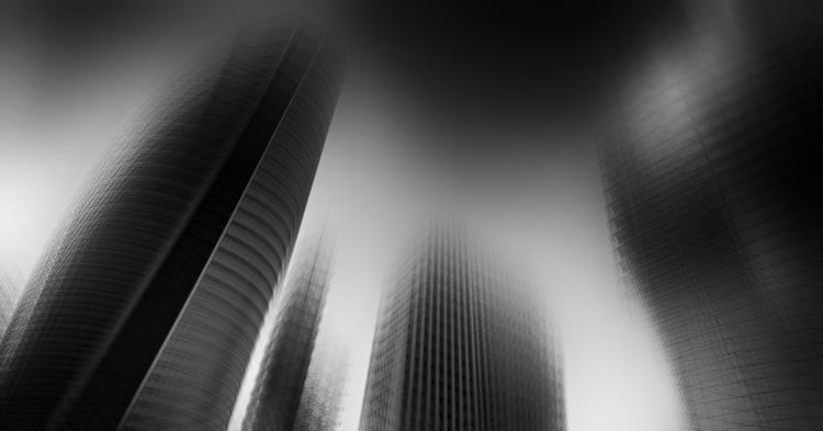 Haifa Towers - photography, bw, cityscape - elhanans | ello