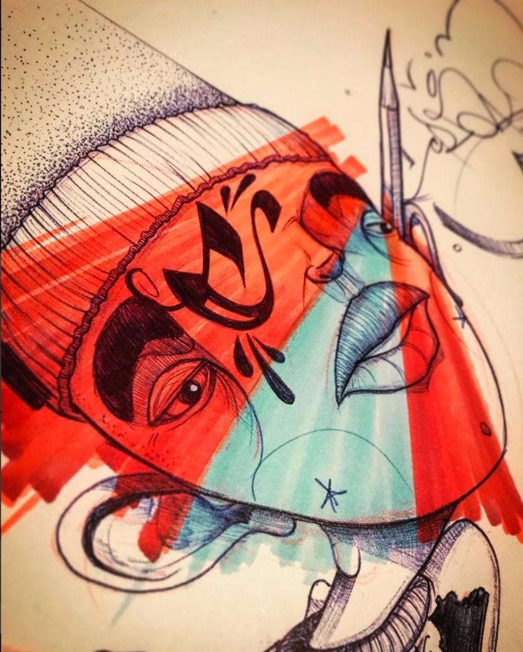 CRAKHEAD - RED Marker pen archi - shawnhud   ello