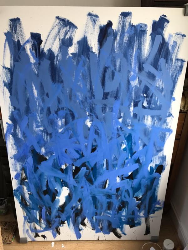 untitled, Oil canvas 59x39 inch - mkgv | ello