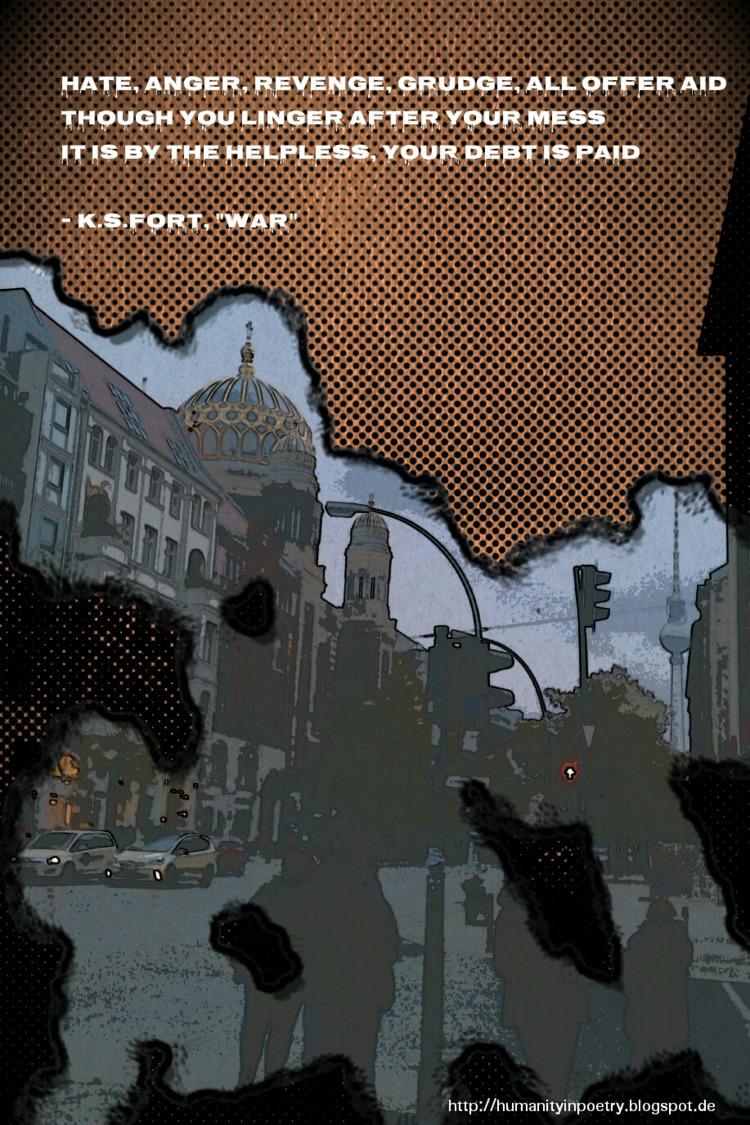 Phoetry War - art, tagblender, artist - humanityinpoetry | ello