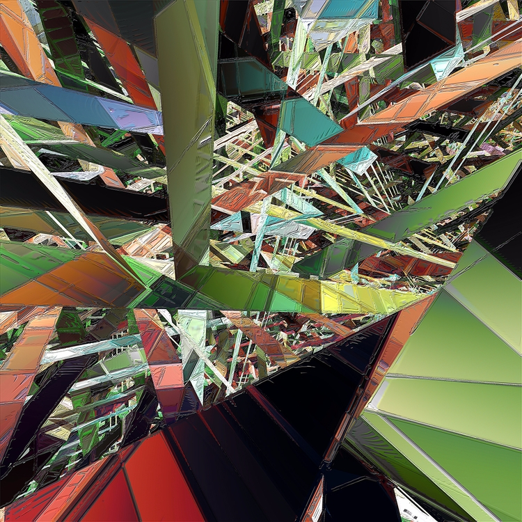 Pathways Digital Art 30 - art, geometricabstract - sphericalart | ello