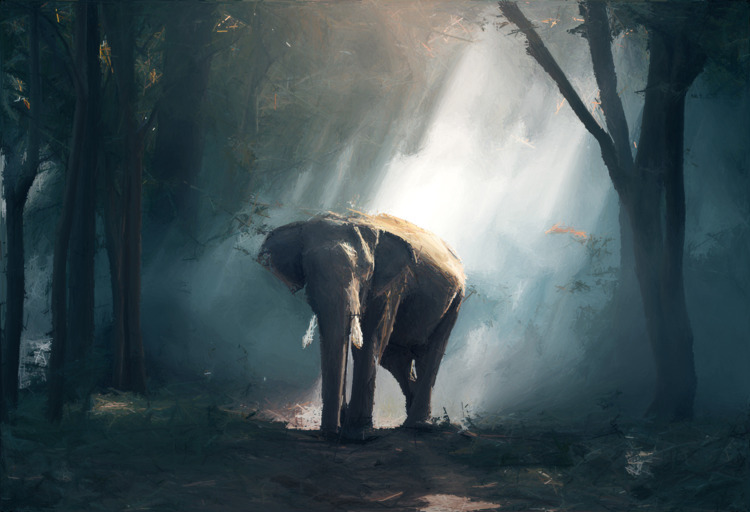 Elephant drawn lines - bitt3r0blivion | ello