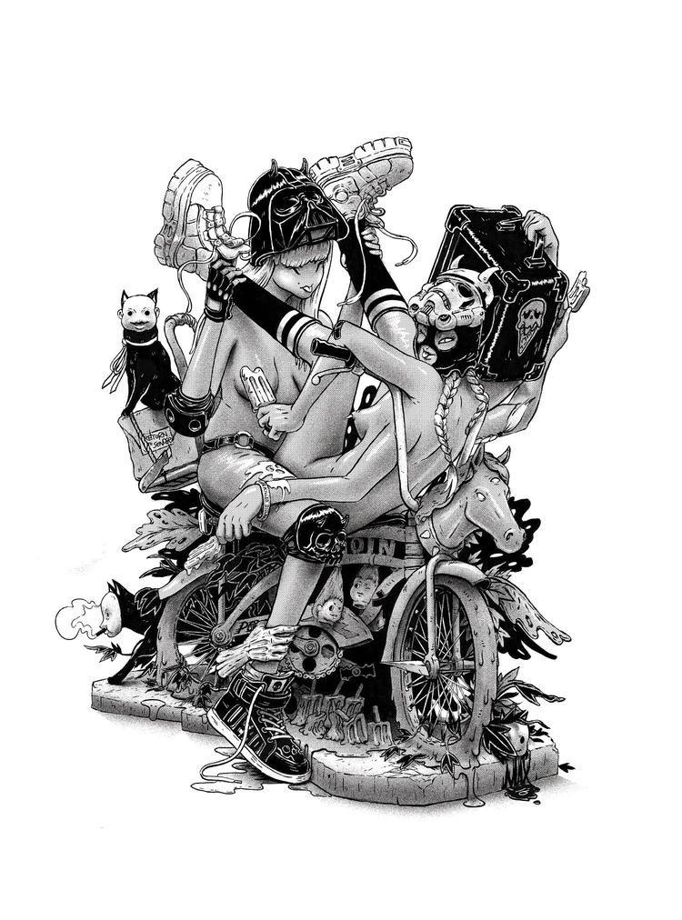 Bi Cycle - illustration, bicycle - maxprentis   ello