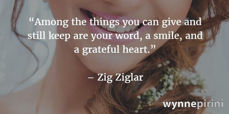 give word, smile, heart. –Zig Z - paulgoade | ello