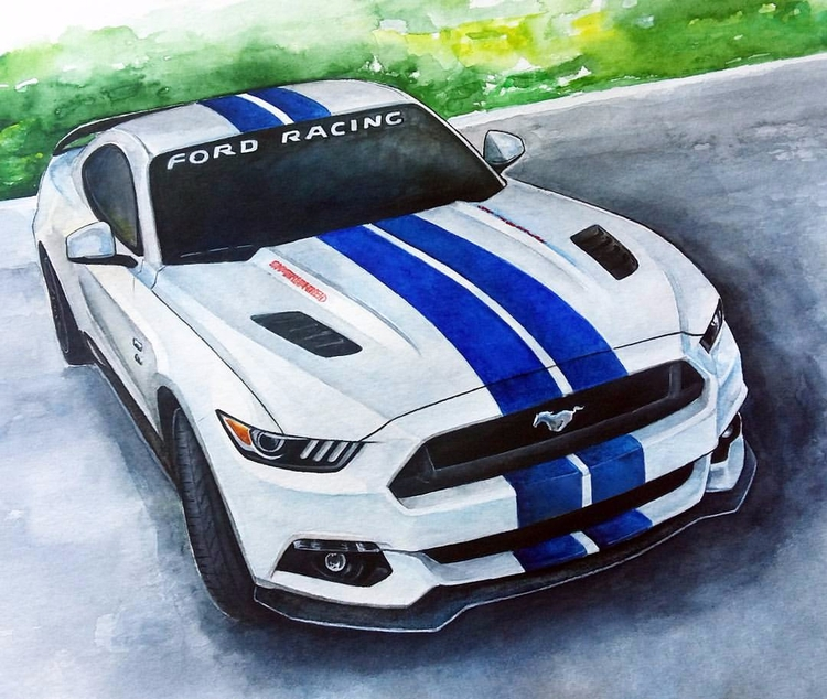 Order car paintings, automotive - rufinaartisr | ello