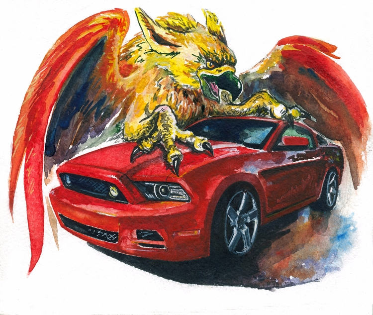 Order car paintings, drawing pi - rufinaartisr | ello