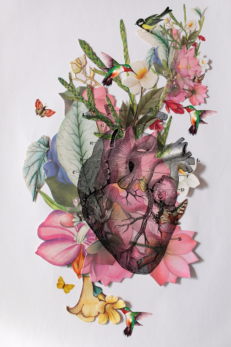 Heart - heart, paper, collage, digitalcollage - franalvez | ello