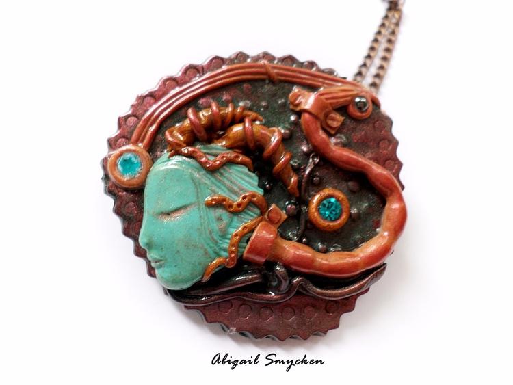 Overseer Pendant - cyberpunk, jewelry - abigailsmycken | ello