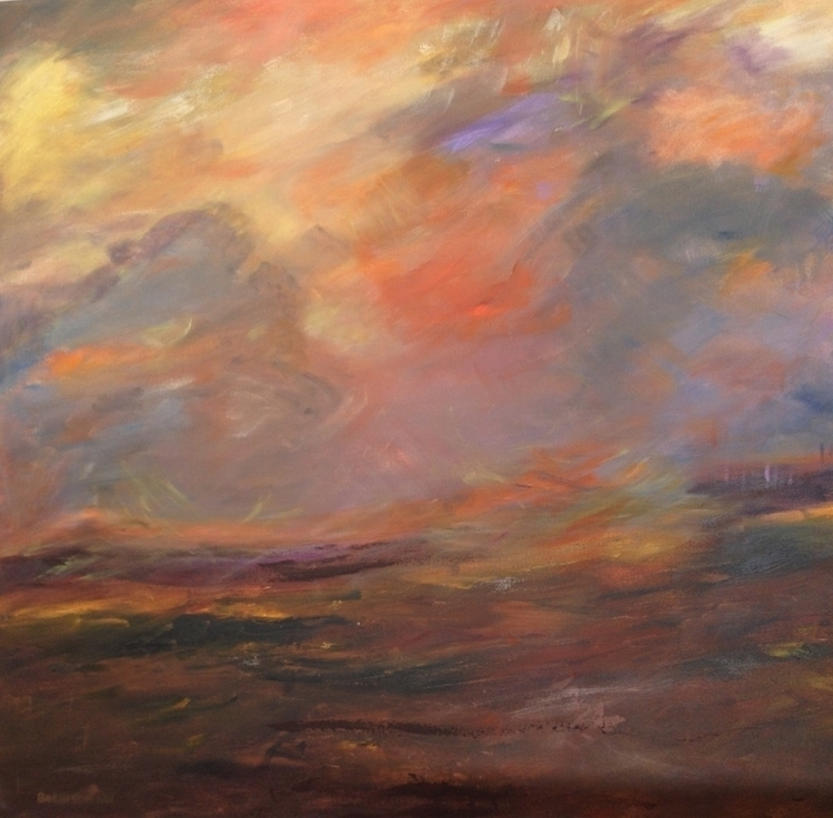 Sedona Sunset 36x36. Sold - bobbi-8863 | ello