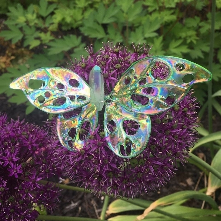 crystal butterfly dragonfly orn - faerieblessings | ello
