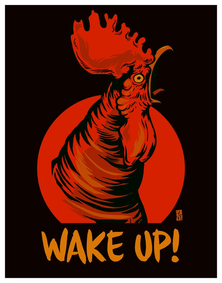 Wake - illustration - thomcat23 | ello