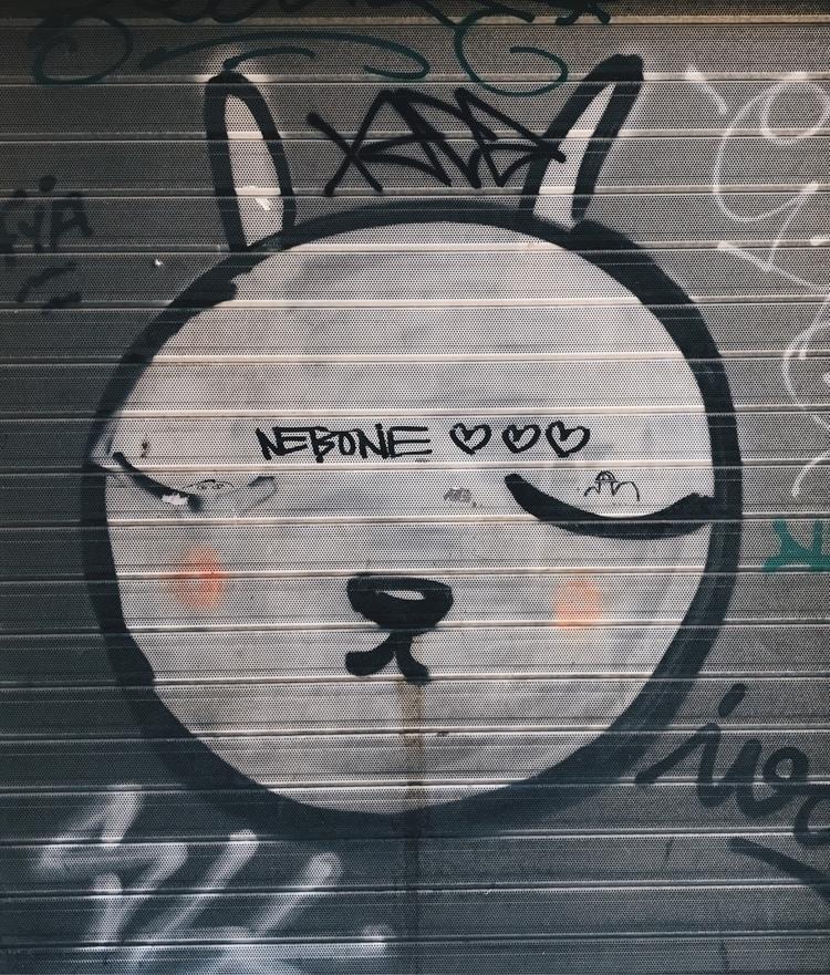 graffiti, barcelona, streetart - tuvanakankalli | ello