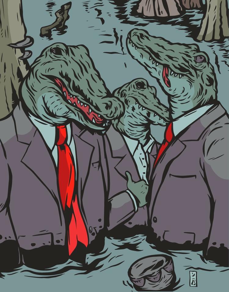 Swamp Drainers - illustration - thomcat23 | ello