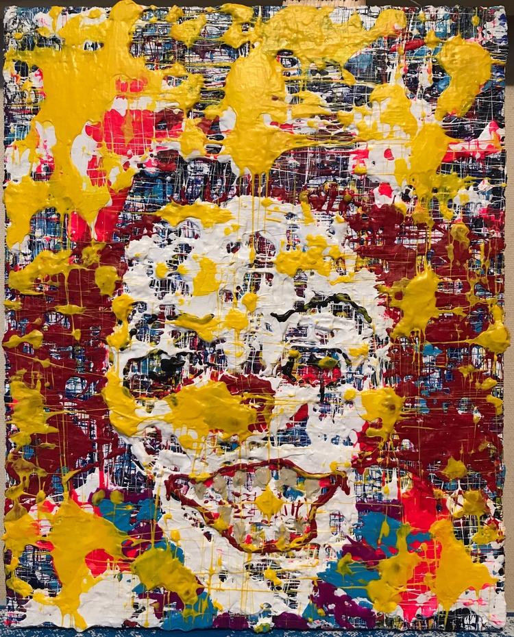 "clowned 8""x10"" acrylic canvas $ - nuisms | ello"