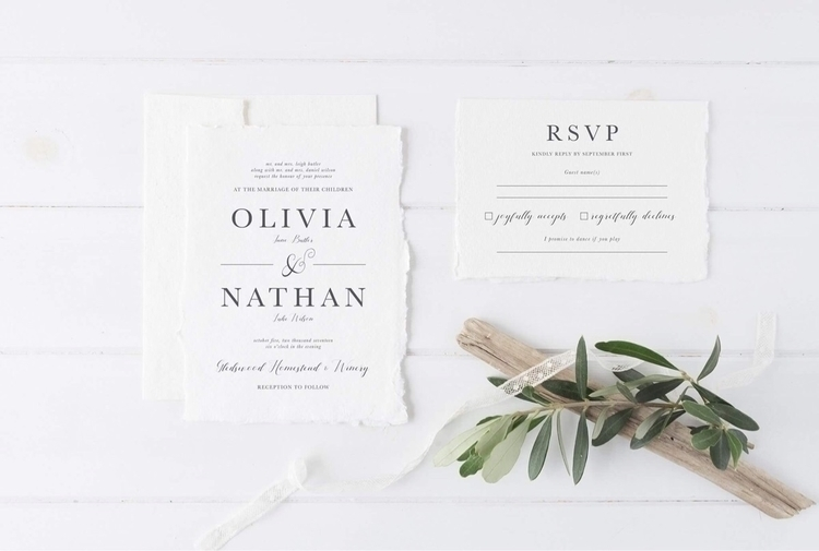 Minimal invitation design roman - flickcreative | ello
