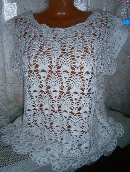 model delicate crochet blouse,  - brunacrochet   ello