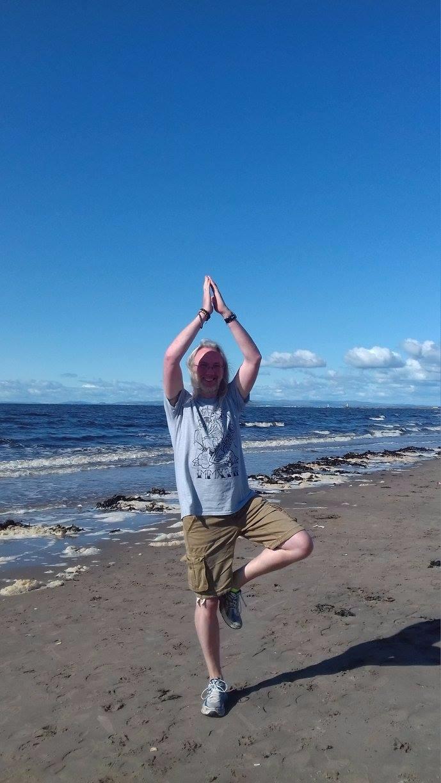 beach - yoga, Ayr, Scotland, yogaeverydamnday - hippy66 | ello