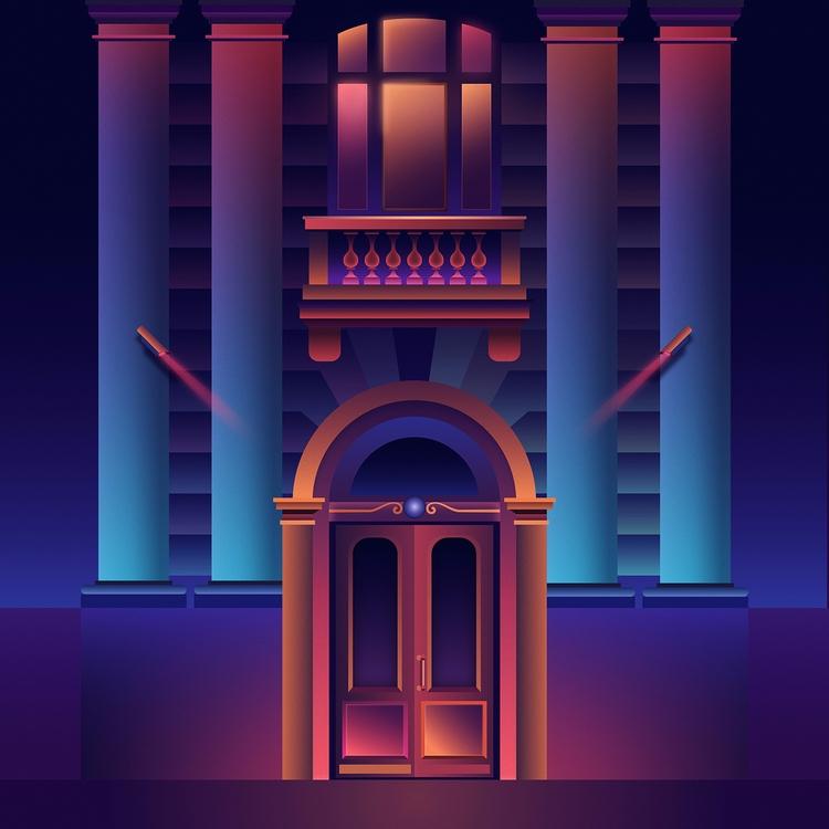 Disctrict - neon, neonlights, futuristic - filianstudio | ello