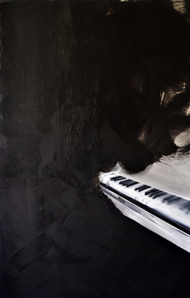 fortepian pokój olej płótno 201 - judytakrawczyk   ello
