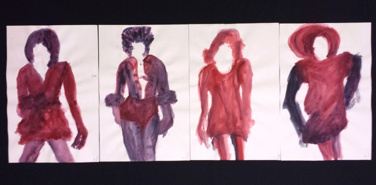 Red Women, Monsters Acrylic Pap - pauladered | ello