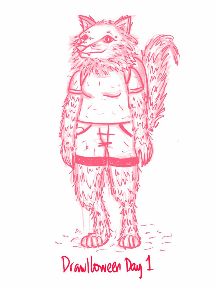 Drawlloween Day 1: Werewolf Dig - arkyoodeetoo | ello