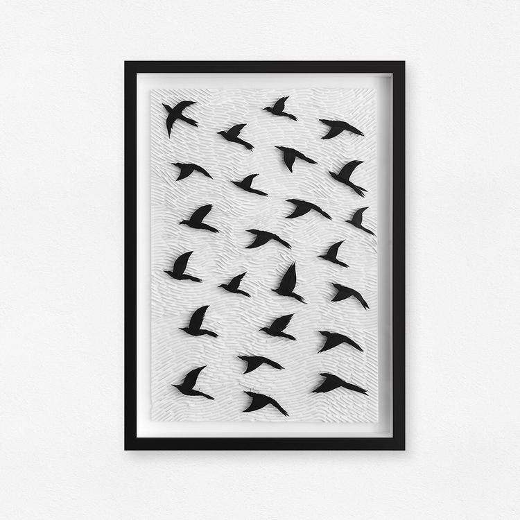 Paper piece called Black Birds - mxs360 | ello