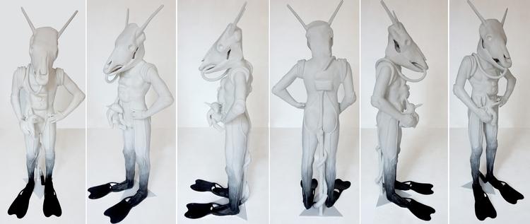 Beast- sculpture 2017/ 1.80 hig - maritotto | ello
